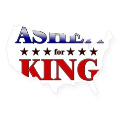 ASHER for king Rectangle USA Sticker