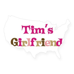 Tim's Girlfriend Rectangle USA Sticker
