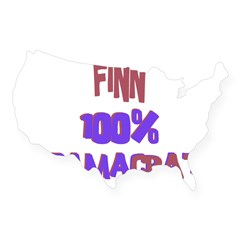 Finn - 100% Obamacrat Rectangle USA Sticker