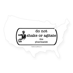 Do not shake or agitate pharm Rectangle USA Sticker