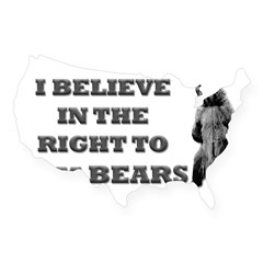 Right To Arm Bears Rectangle USA Sticker