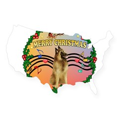 XmasMusic2/Tervuren USA Sticker