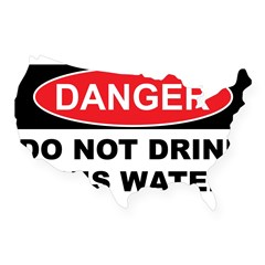 DO NOT DRINK THIS WATER USA Sticker