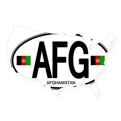 Afghanistan Euro Oval USA Sticker
