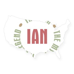 Ian Man Myth Legend Rectangle USA Sticker