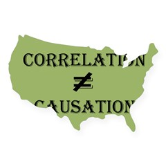 Correlation Causation USA Sticker