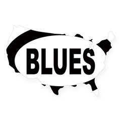 Blues Oval USA Sticker