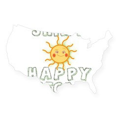 Shiny Happy Vegan USA Sticker