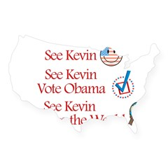 See Kevin Vote Obama Rectangle USA Sticker