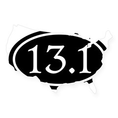 13.1 Half Marathon Oval USA Sticker