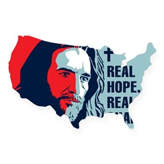 Real Hope. Real Change. Rectangle USA Sticker