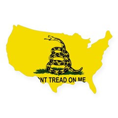 Gadsden Flag Oval USA Sticker