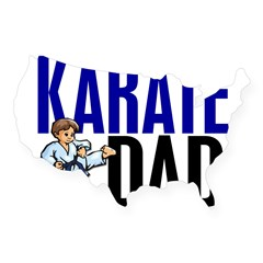 Karate Dad (OF BOY) 3 Rectangle USA Sticker