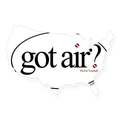 Got Air? Oval USA Sticker