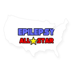 """Epilepsy All Star"" Rectangle USA Sticker"