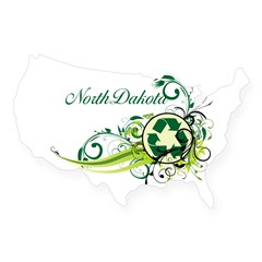 North Dakota Recycle T-Shirts and Gift USA Sticker