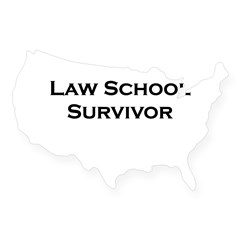 Law School Survivor Rectangle USA Sticker
