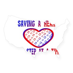 Walk to save a heart Rectangle USA Sticker