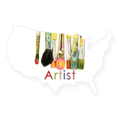 ACEO Art USA Sticker
