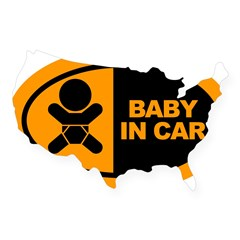 Baby in Car Safety Sticker for Car USA Sticker