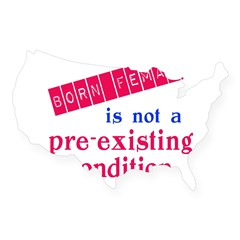 Female is not a Pre Existing Condtion USA Sticker