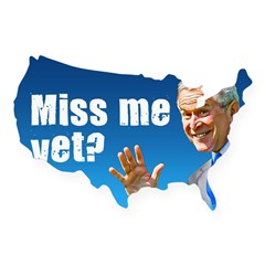 Miss Me Yet? Rectangle USA Sticker