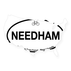 Needham Town Fore USA Sticker