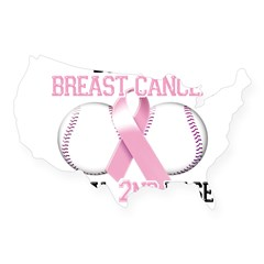 Don't Let Breast Cancer Steal 2nd Base USA Sticker