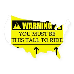 WARNING: This Tall USA Sticker