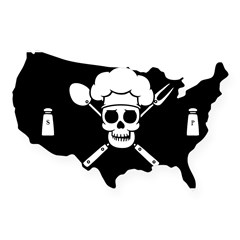 Chef Pirate USA Sticker