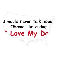 I love my dog. USA Sticker