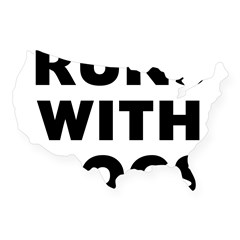 Runs Dog USA Sticker