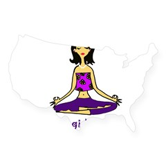 Yogi Mama Rectangle USA Sticker