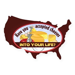 Accept Cheese USA Sticker