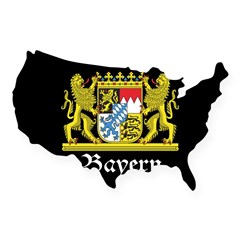 Black Bayern USA Sticker