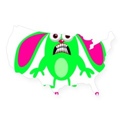 Little Bunny Foo Foo USA Sticker