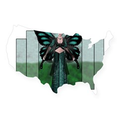 Etégina the Night Fairy Rectangle USA Sticker