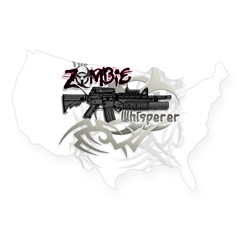 Zombie Whisperer Hunter M16 USA Sticker
