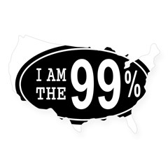 I am the 99 Percent USA Sticker