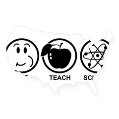 Science Teacher USA Sticker
