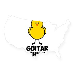 Guitar Chick USA Sticker
