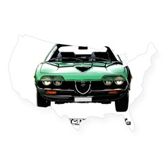 Alfa Romeo Montreal USA Sticker