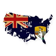 Saint Helena Flag USA Sticker