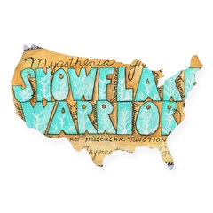 Snowflake Warrior USA Sticker
