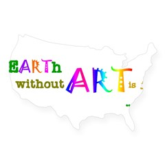 Earth Without Art USA Sticker