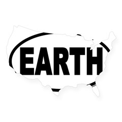 Earth Day EARTH Euro Oval USA Sticker