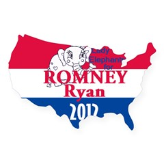 Romney Ryan USA Sticker