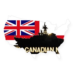 Royal Canadian Navy Rectangle USA Sticker
