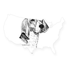American Foxhound USA Sticker