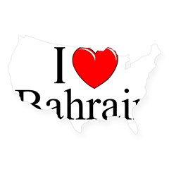 """I Love Bahrain"" Rectangle USA Sticker"